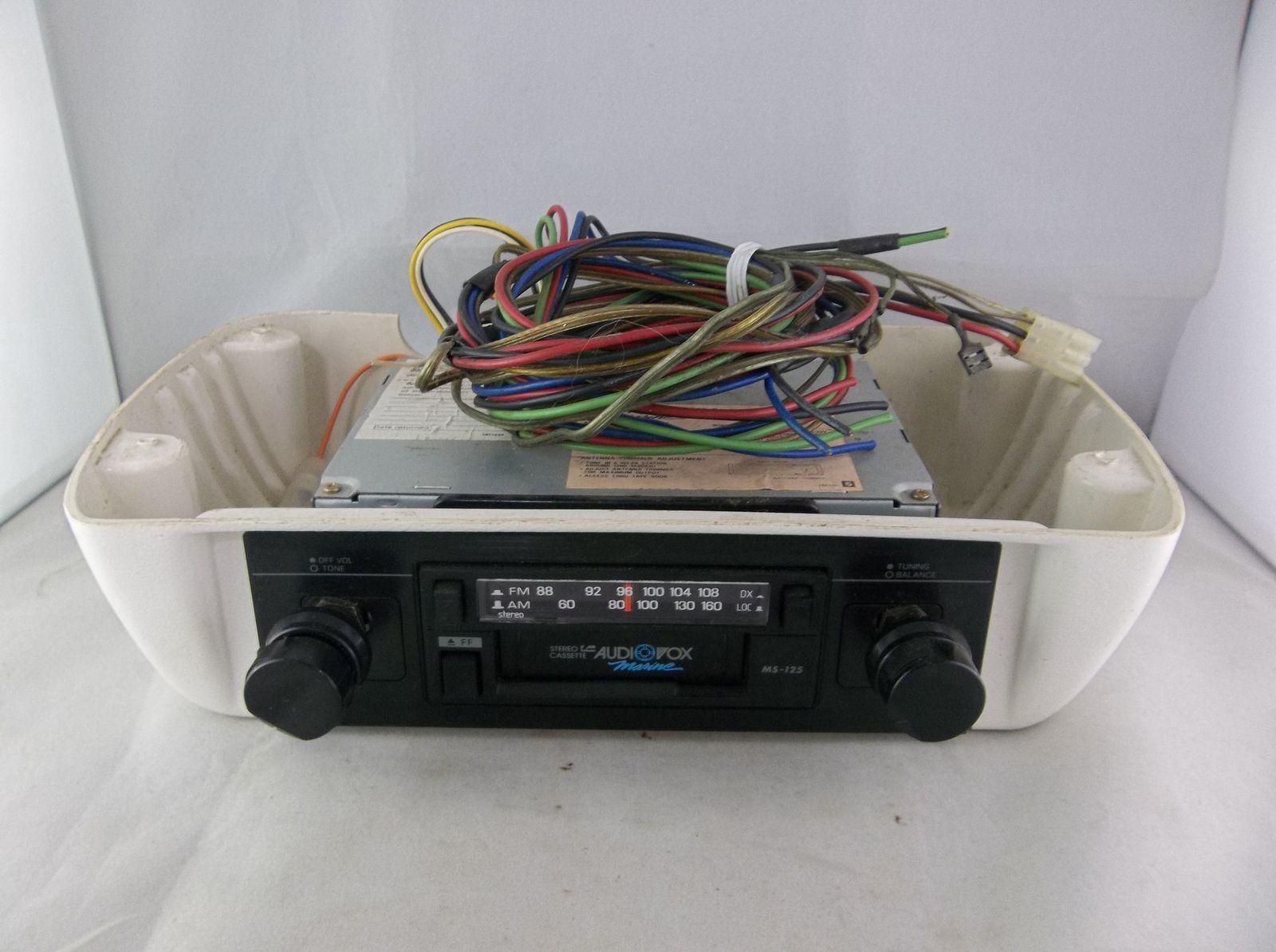 Vintage Audiovox Marine Ms 125 Am Fm Stereo Cassette Player Radio Audiovox Marine Am Fm Cassette Player Radio S Cassette Marine Radios Cassette Player