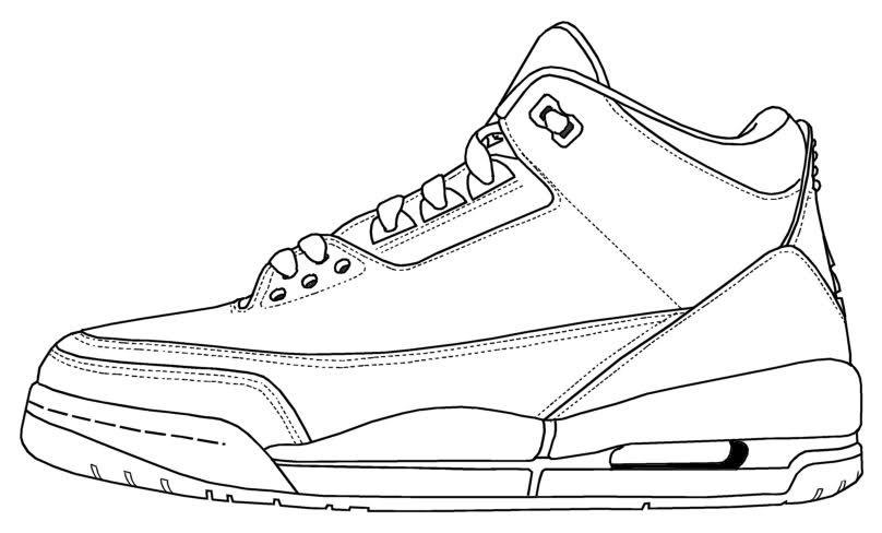 Air Jordan III Coloring SheetsAdult