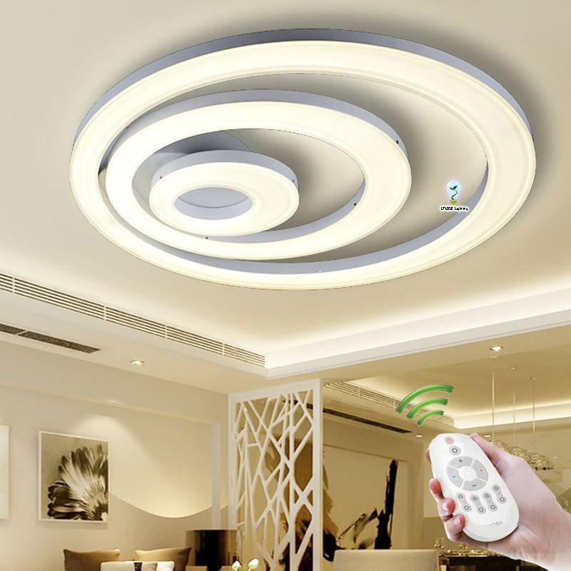 Pas cher nouveau acrylique moderne led plafonniers lampe for Eclairage led interieur plafond