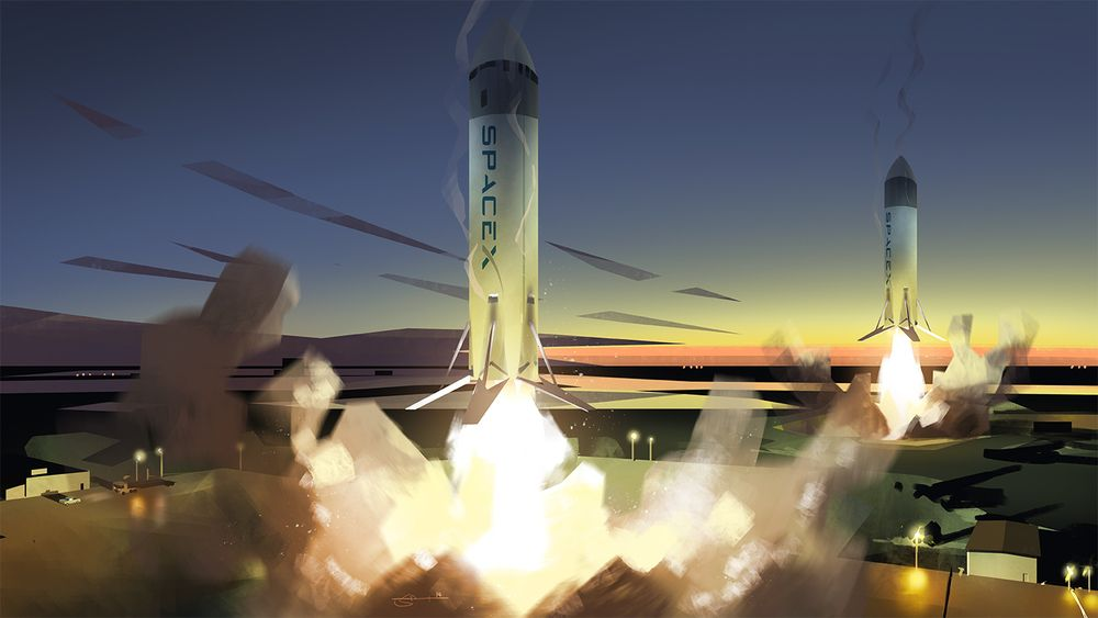 bfr 1st stages landing back on earth by stanley von medvey