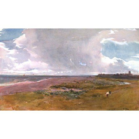 Posterazzi Royal Institute 1906 Southwold from beach Canvas Art - Thomas Collier (24 x 36)