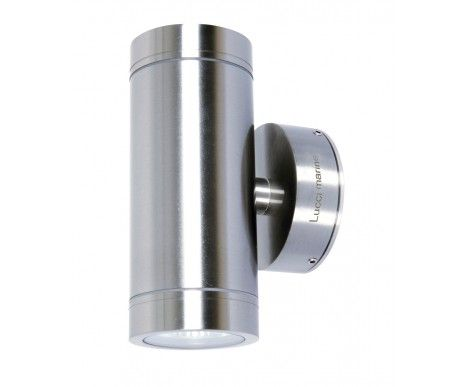 Lucci Marine Exterior Up Down Wall Bracket In Marine Grade Stainless Steel