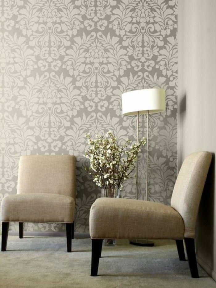 Les Papiers Peints Design En 80 Photos Magnifiques Papier Peint Decoration Maison Chantemur Papier Peint