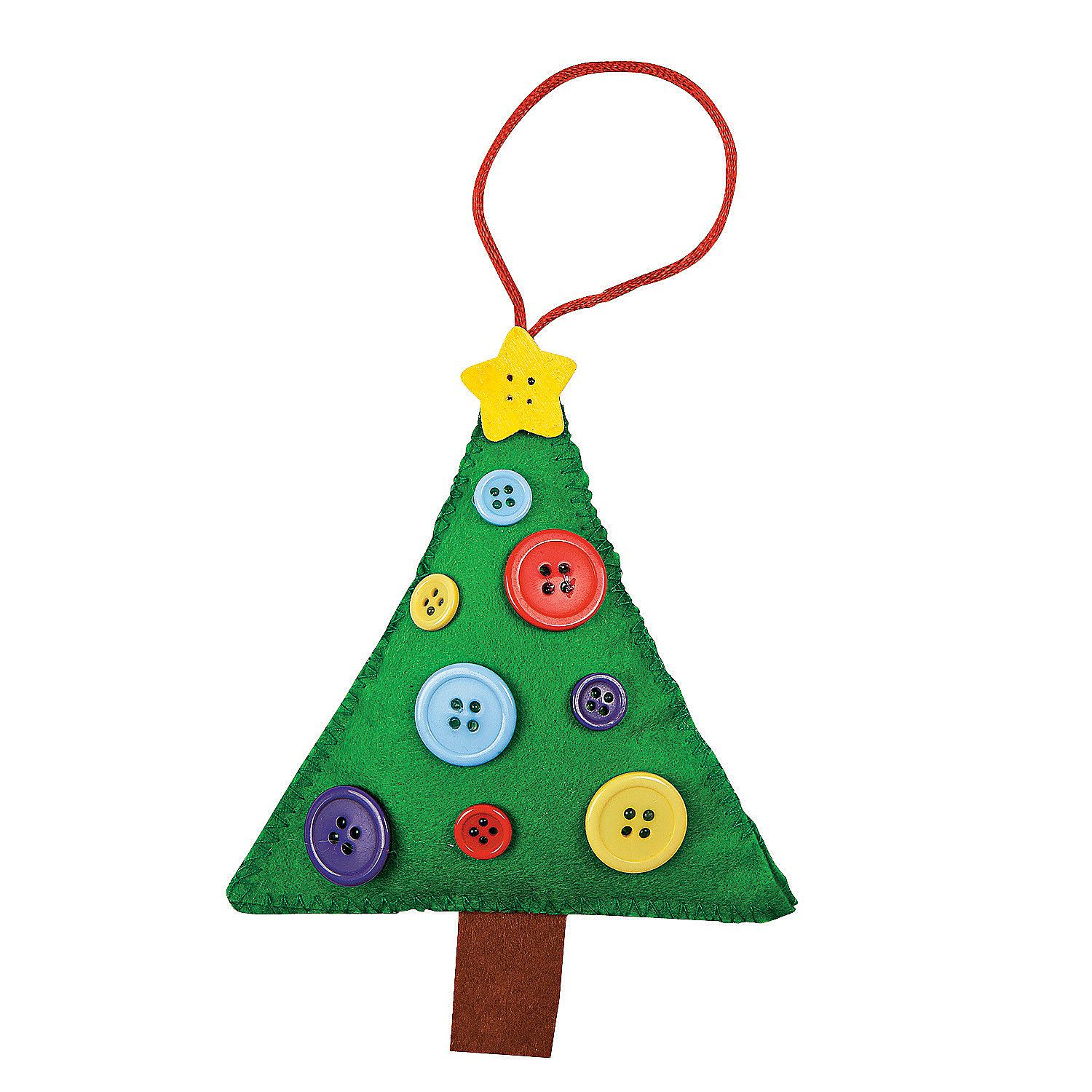 Button Christmas Tree Ornament Craft Kit Discontinued Christmas Tree Ornament Crafts Ornament Crafts Crafts