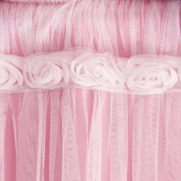 Luxury Pink Lace Tulle Overlay Ruched Shabby  French Paris Rose Curtain Panel