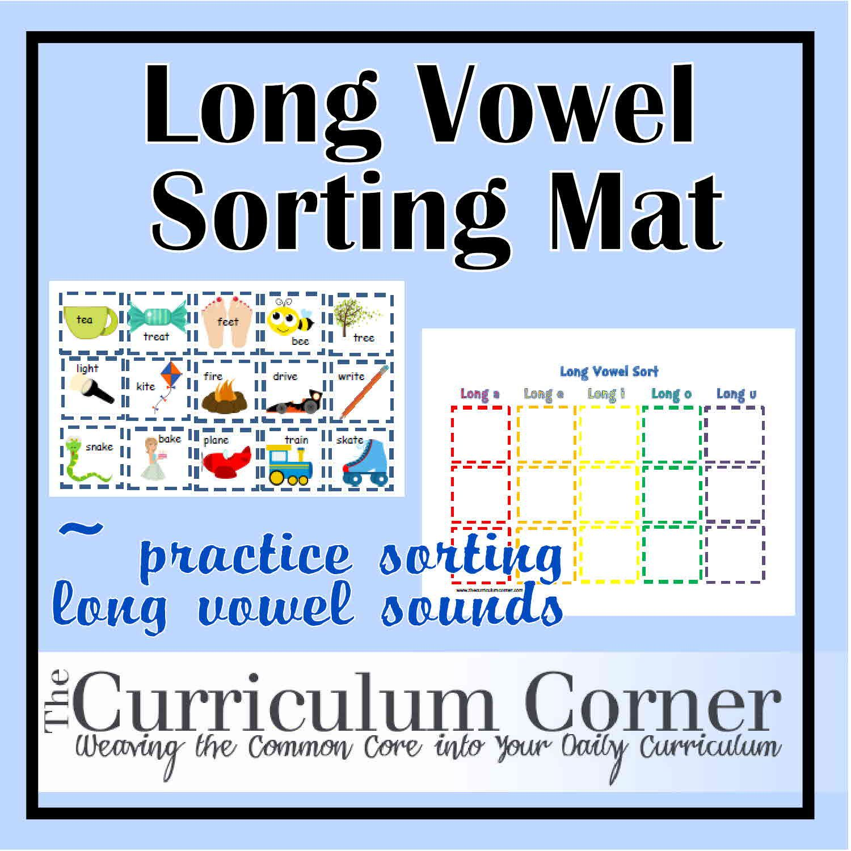 Long Vowel Sort Short Vowels Teaching Spelling Phonics Practice [ 1500 x 1500 Pixel ]