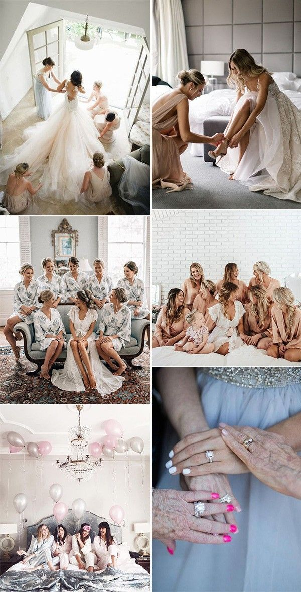 18 Must Have Getting Ready Hochzeitsfotos mit Brautjungfern #bridepictures