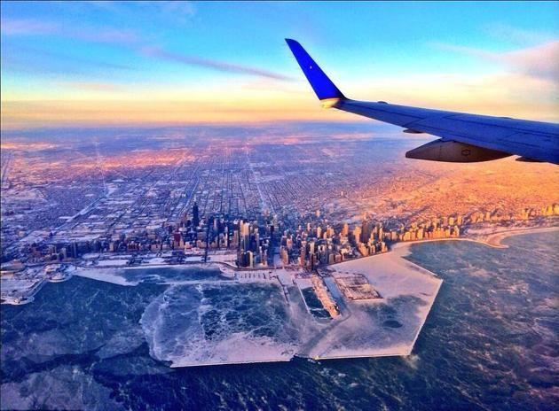 Chicago congelado por una ola de frío
