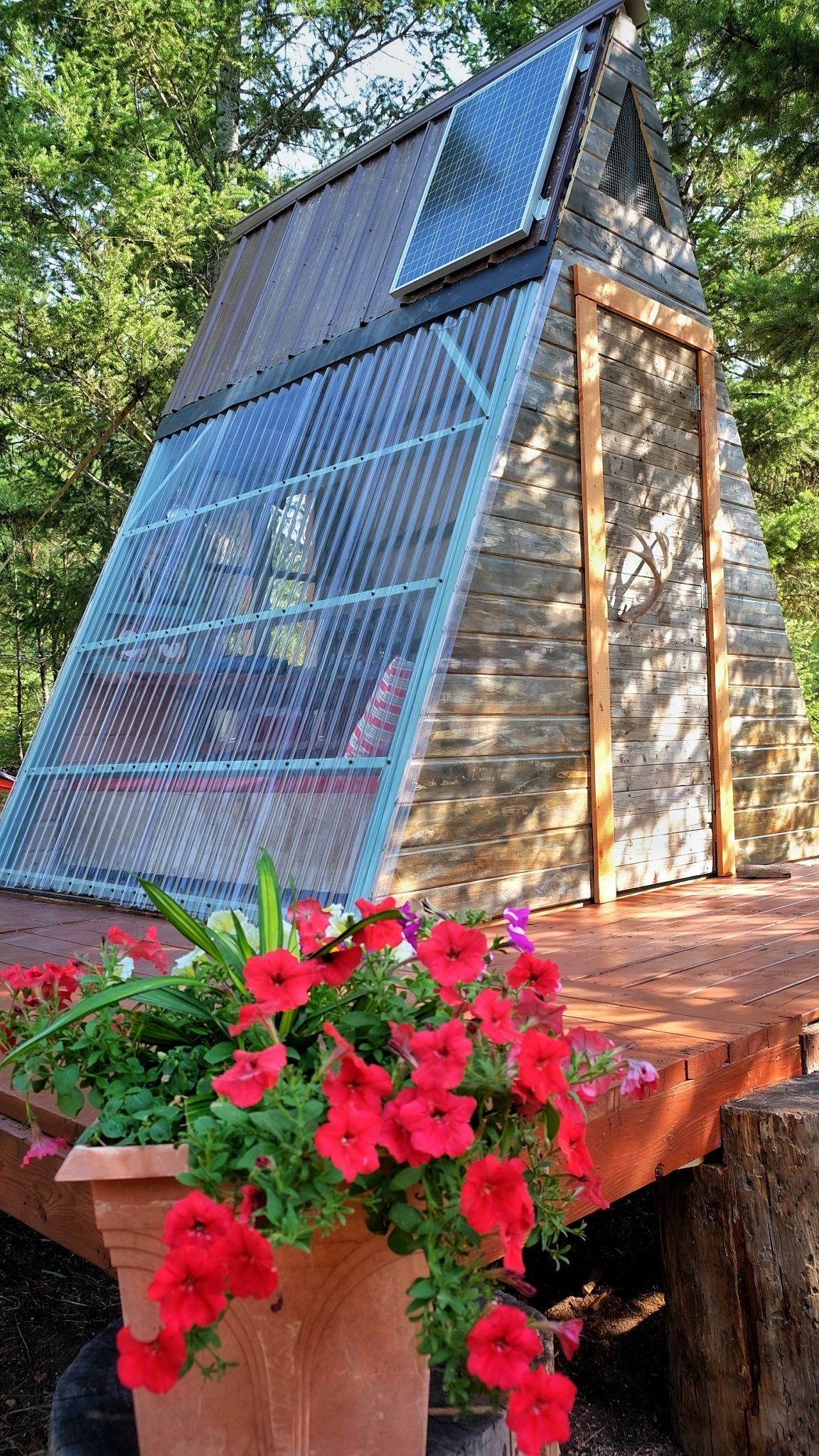 The making of a tiny A-frame Cabin (part 2) | Compact Living ...