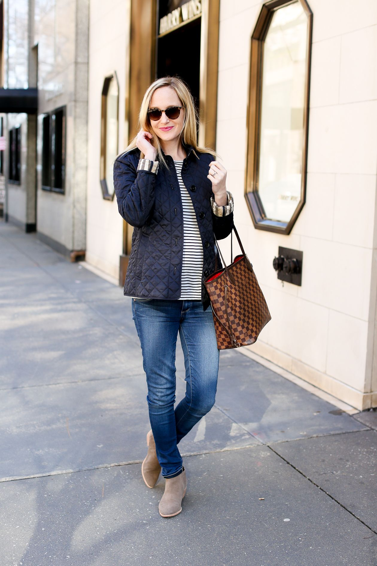 On Investment Pieces Kelly In The City Quilted Jacket Outfit Winter Jacket Outfits Fall Jackets Outfit