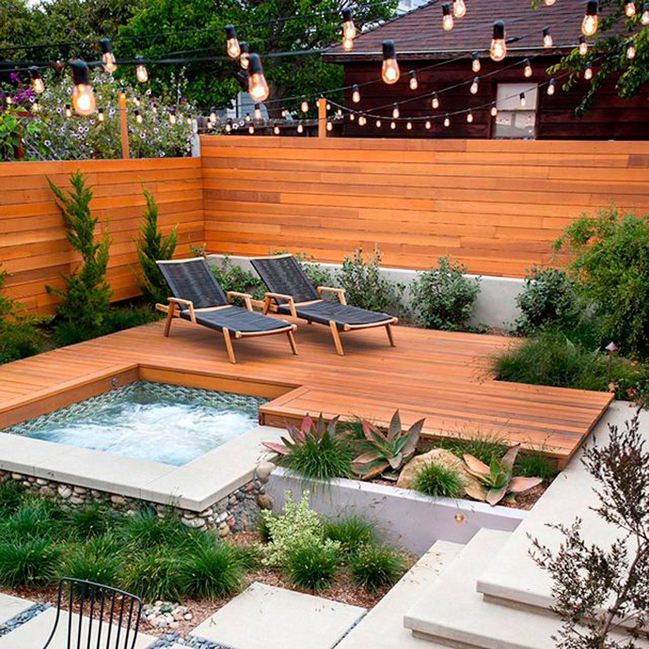 modern backyard ideas with swimming pool jacuzzi or hot ...
