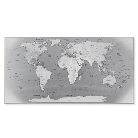 Stainless steel world map its magnetic map madness pinterest magnetic world map gumiabroncs Choice Image