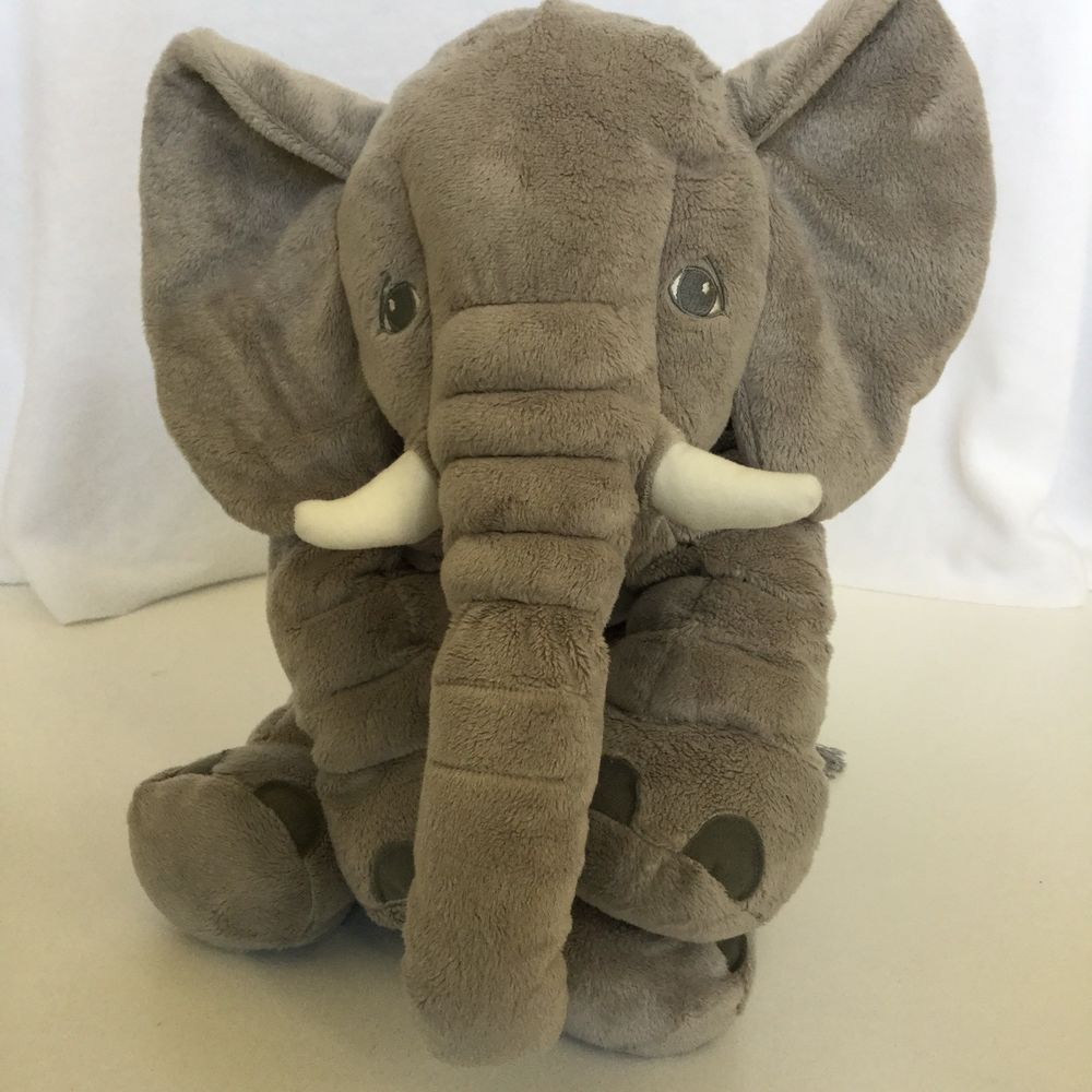 Ikea Jattestor 23 Large Grey Elephant Plush Soft Toy Stuffed Animal