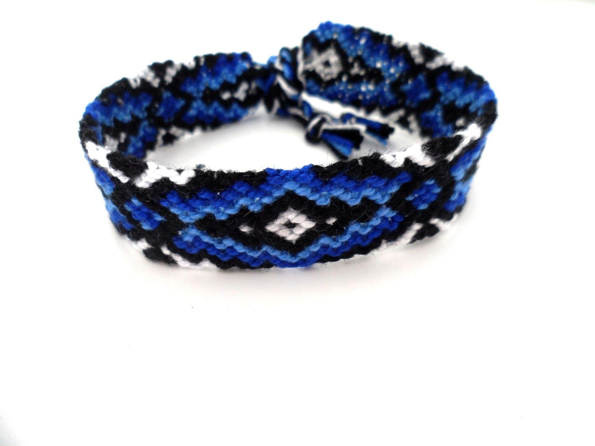 design intemporel 6ed39 2b0a9 Bracelet brésilien pour homme, dégradé de bleu : Bracelet ...