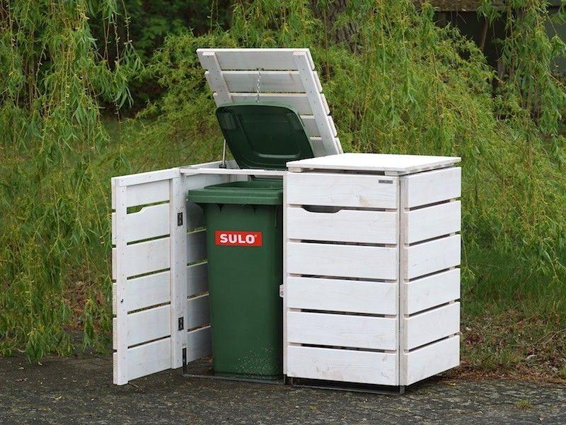 2er Mulltonnenbox Holz 120 Liter Mulltonnenbox Holz