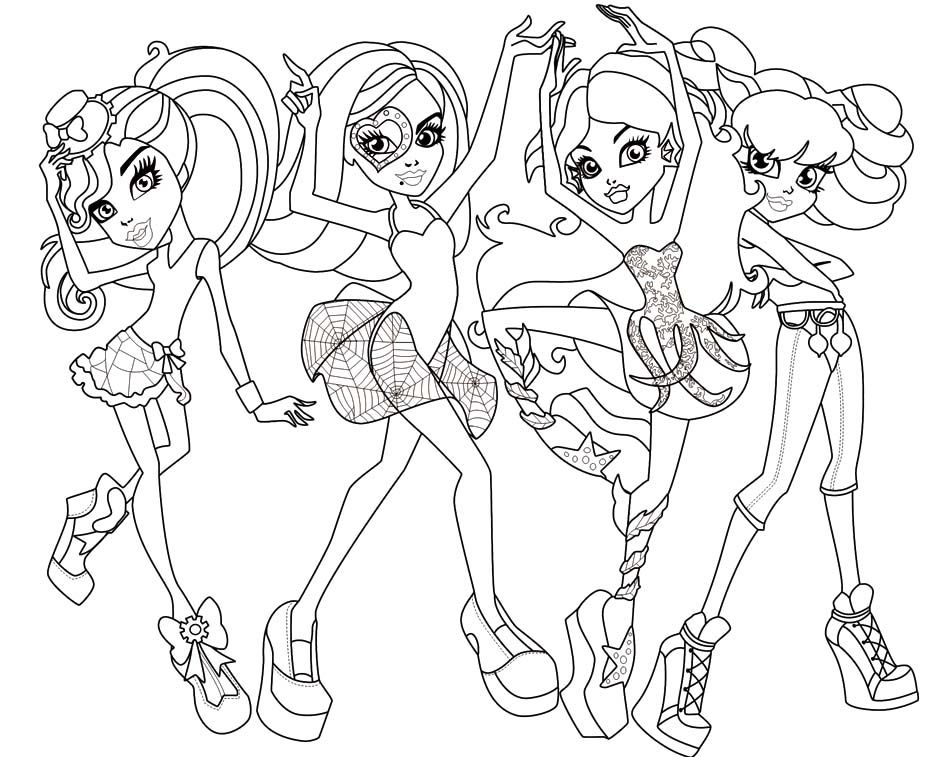 Monster High Colouring Pages : Monster high coloring pages cartoon & video games etc coloring