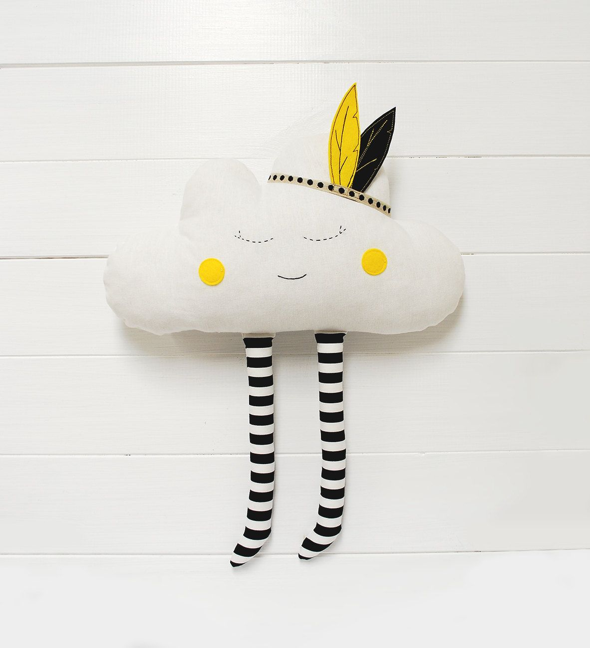 Cloud Pillow Cloud cushion Pillow Cloud Plush Happy Cloud Nursery Decor Nurse gift Feather headband Babyshower gift Nursery Decor girl