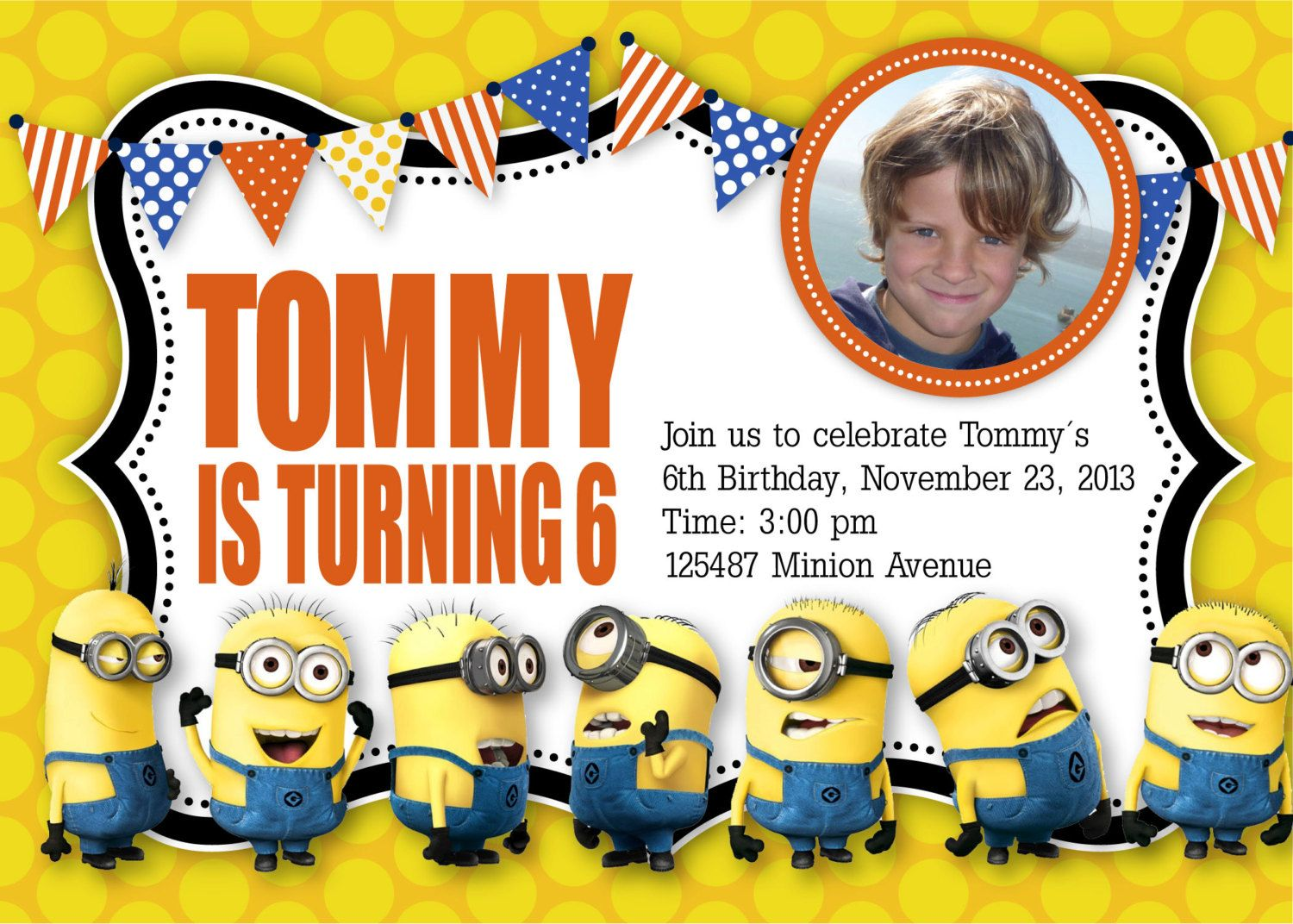 Minion Birthday Invitation Templates Free Invitations Pinterest - Party invitation template: minion birthday party invitations templates