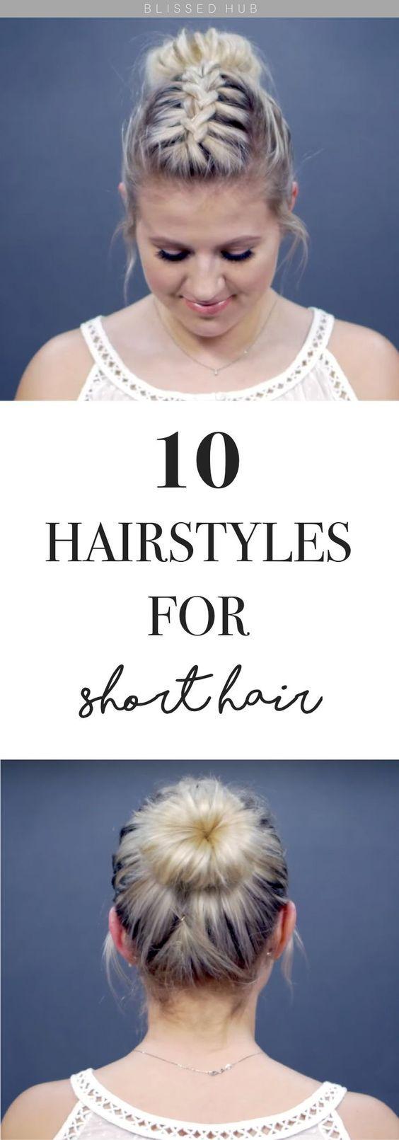 10 Different Hairstyles for Short Hair: Bun Edition | Cute ...