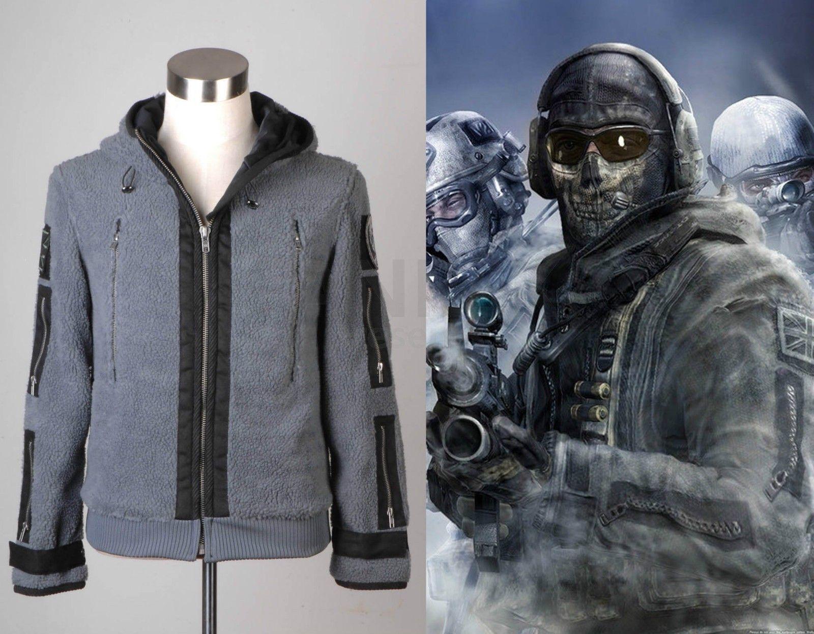 Cosplay Modern Warfare2 Task Force 141 Ghost battle coat Zip Jacket