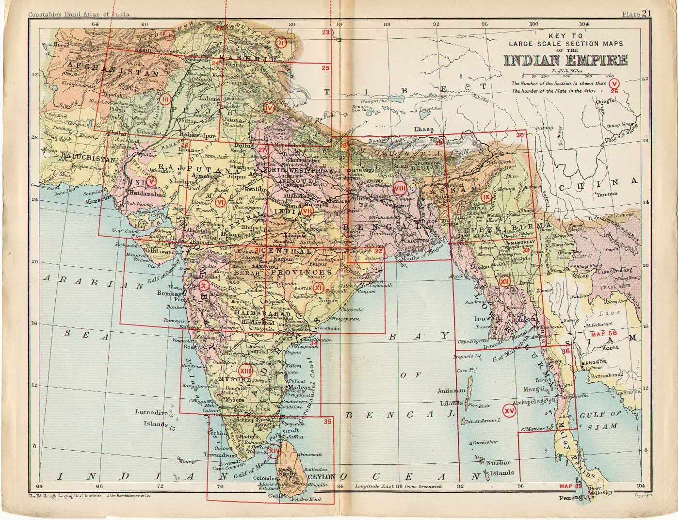Key to Section maps, plates 22 to 36, of the Indian ... | Maps ... Key With Map Of India on map of india before independence, map and key features of india, flag with key, map of india students, map of india with latitude, map of indian battles in the us, weather with key, map of india with flag, map of india with scale, map of british imperialism india, map of india animation gif, ancient india with key,