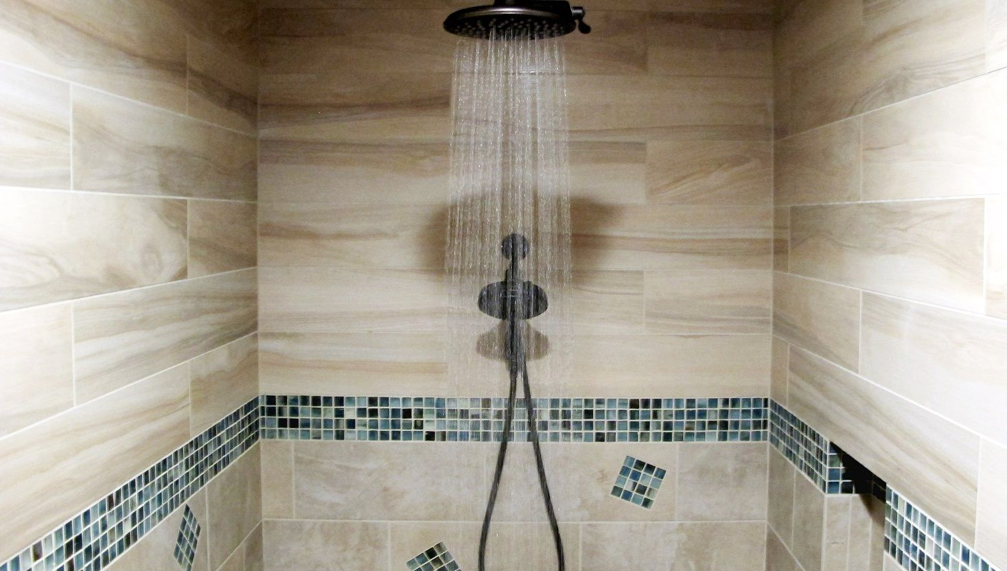Decorative Shower Tile Large Walk In Steam Shower Decorative Glass Band Border Mosaic