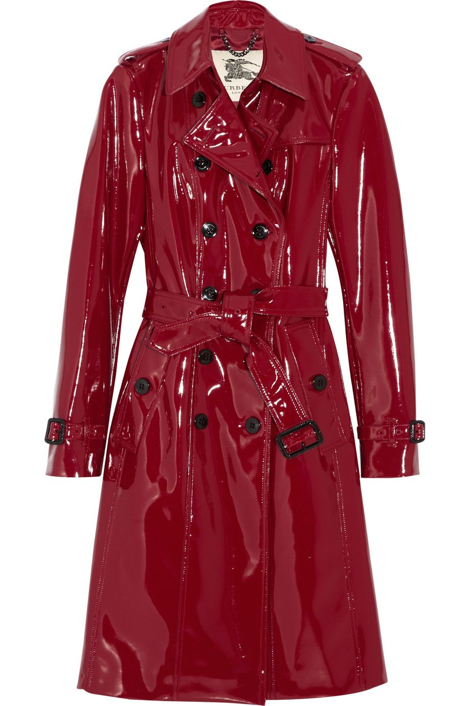 8429606768efaa Burberry Glossed-vinyl Trench Coat in Red | Plastic Vinyl Latex ...