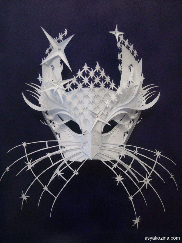 Mask from paper by Asya Kozina, via Behance