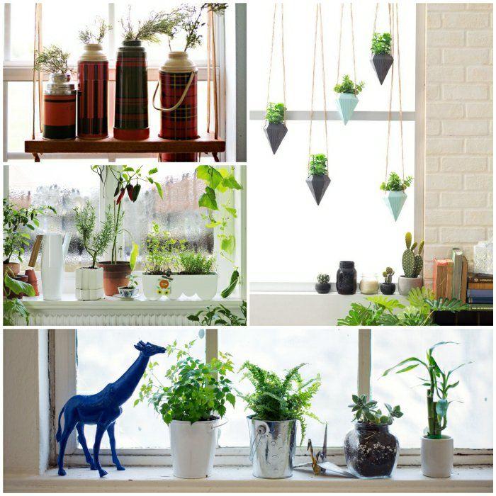 fensterbank deko die farben der natur durch pflanzen nach hause holen wohnzimmer. Black Bedroom Furniture Sets. Home Design Ideas