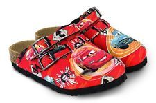 8ab32e51a01 Birkis by Birkenstock Kay Clogs Disney - Color Cars Phase 2 Red - Birko-Flor