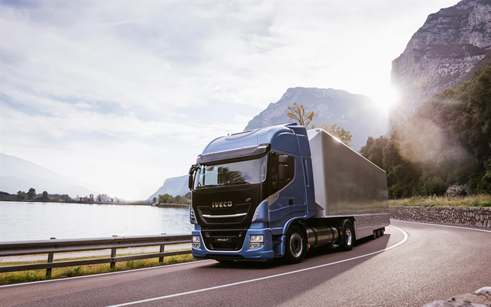Download Wallpapers Iveco Stralis Np 2018 New Trucks Cargo Transportation Delivery Iveco Besthqwallpapers Com New Trucks Truck Cargo Trucks