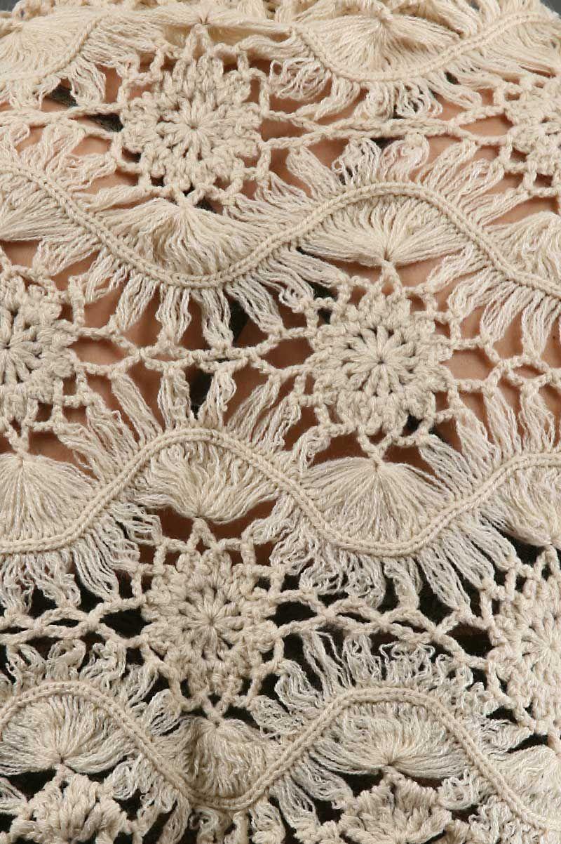 Image Enlargement of Crochet Wrap by Sena   غرز عجيبة   Pinterest ...