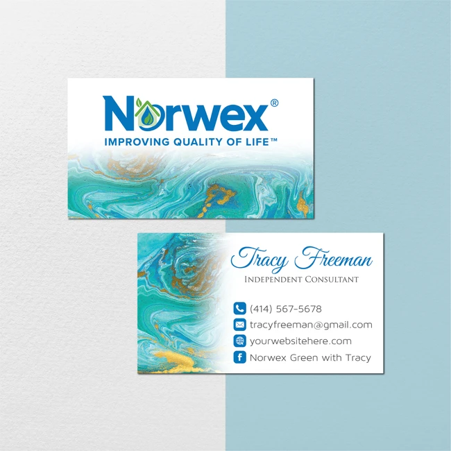 Watercolor Norwex Business Cards Personalized Norwex Template Nr27 In 2020 Cleaning Business Cards Custom Business Cards Personal Business Cards