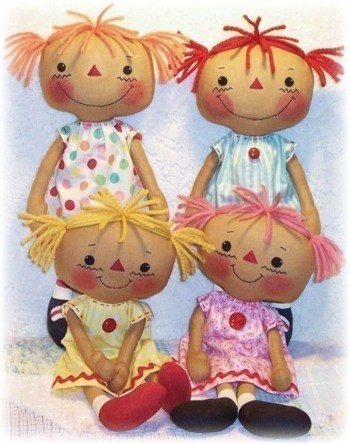 Cloth Doll Pattern, PDF pattern, Rag Doll Pattern, Sewing Pattern ...