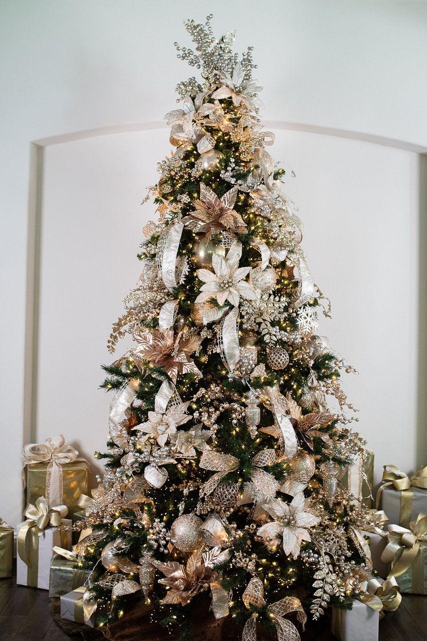Platinum Christmas Tree Bundle Decorator S Warehouse In 2020 Christmas Tree Decorating Themes Christmas Tree Themes Christmas Tree Inspiration