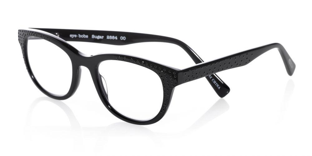 1eb4a7c862a7 eyebobs popular Sugar reading glasses in black with black rhinestones.