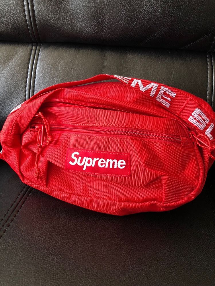 73377530208 Supreme SS18 Cordura Waist Shoulder Bag Red  fashion  clothing  shoes   accessories