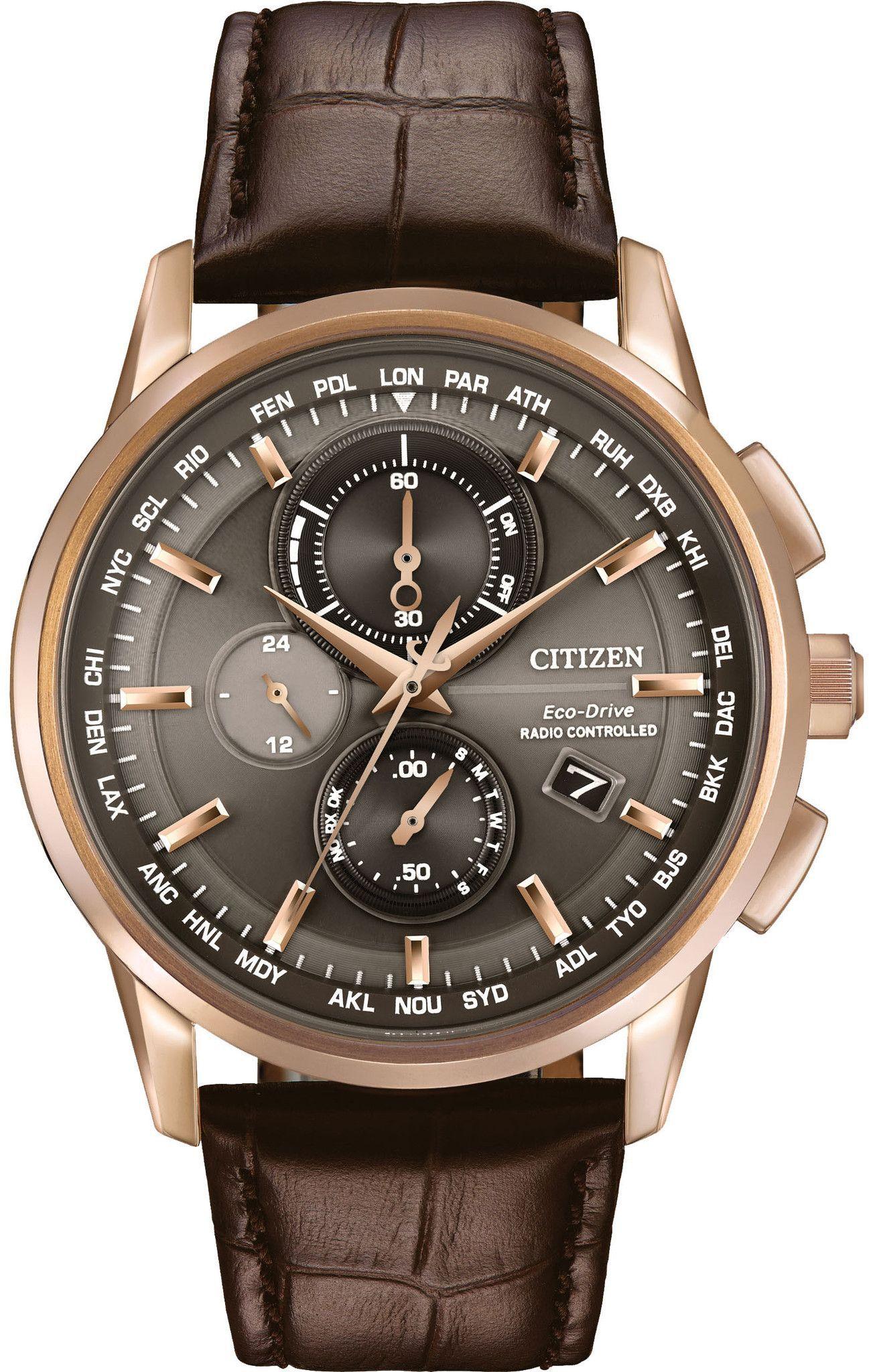 412e4600ada Citizen Eco-Drive Men s World Chronograph A-T Watch Relógios De Luxo