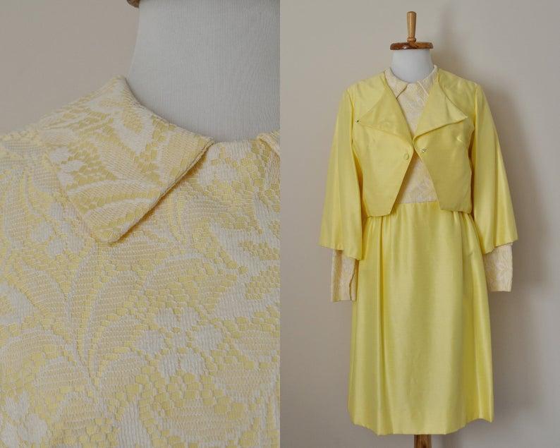 Vintage 60s Yellow Dress