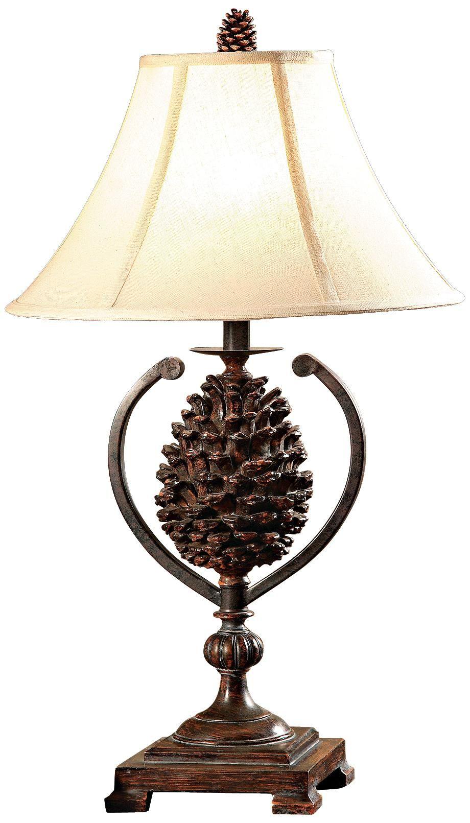 Hunters Walk Pine Cone Table Lamp