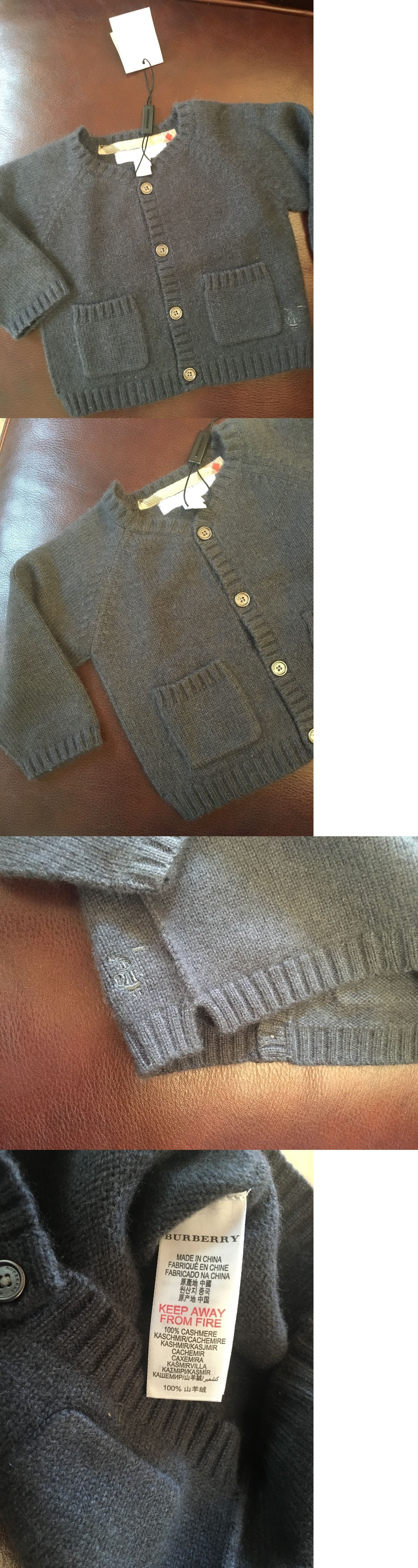 274441fef212 Sweaters 147216  Burberry Baby 100% Cashmere Sweater  Dark Airforce ...
