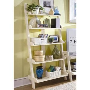 Wall Storage with Five Shelves in Crème | Nebraska Furniture Mart