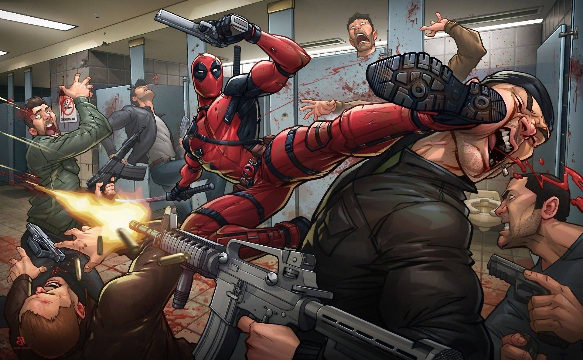 Image result for deadpool violence