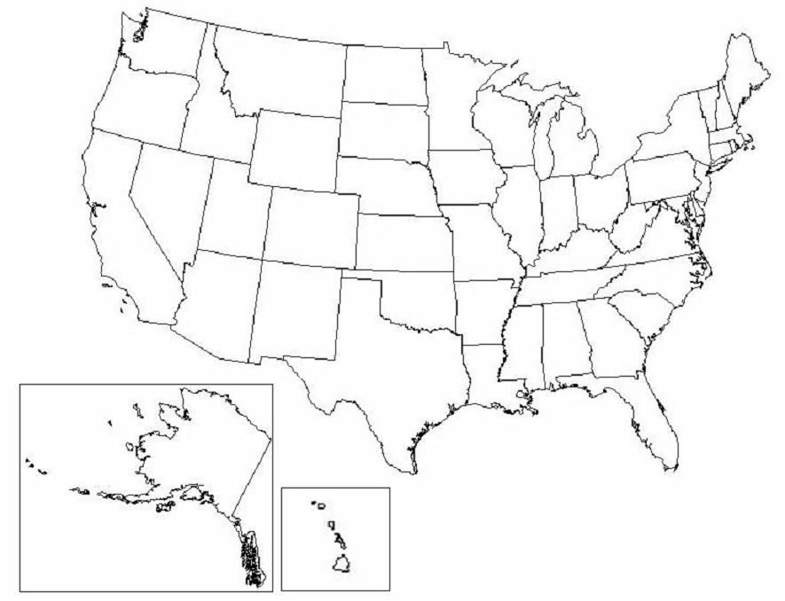 Need A Free Printable Map Of United States Look Here Right Now For - Blank-us-map-quiz-printable