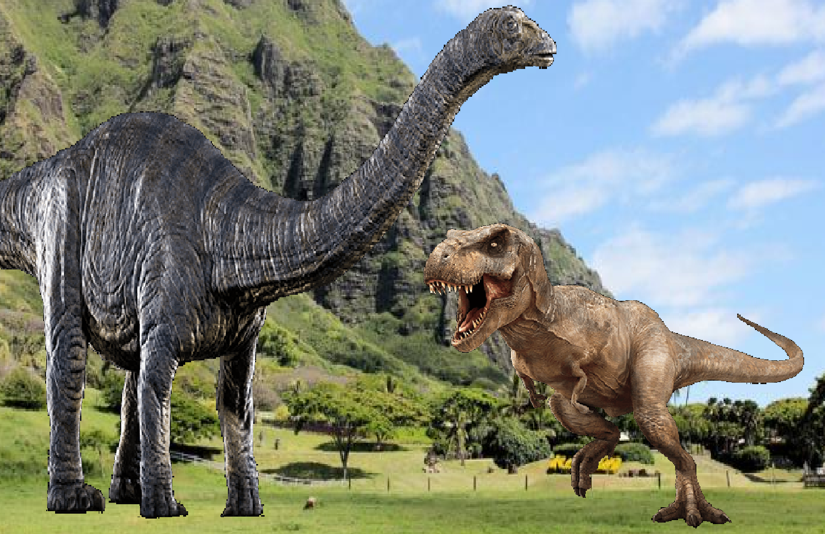 Apatosaurus vs Tyrannosaurus Rex | The Giant Fighter ...