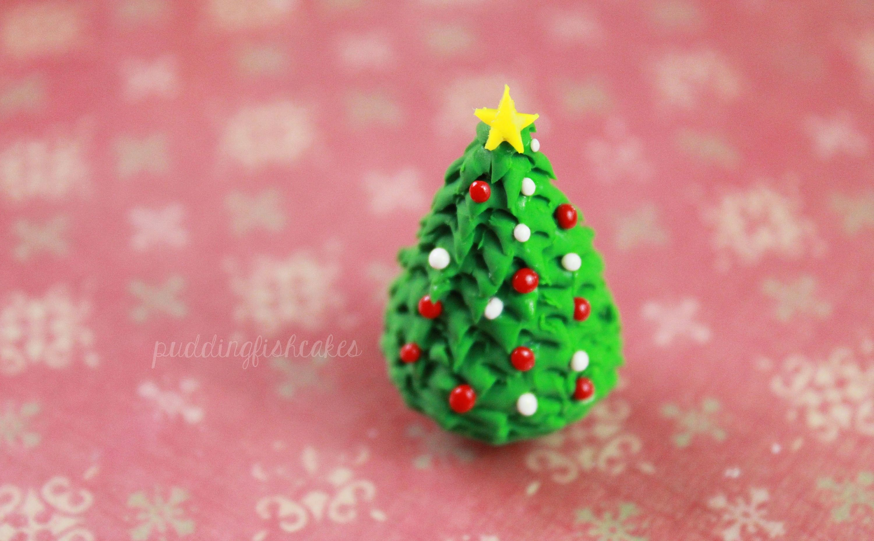 Diy Christmas Tree Polymer Clay Tutorial Polymer Clay Christmas Miniature Christmas Trees Miniature Christmas