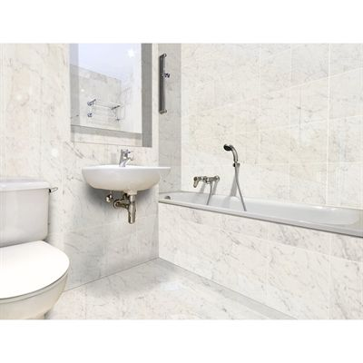 Style Selections Futuro White Porcelain Thinset Mortar Floor And