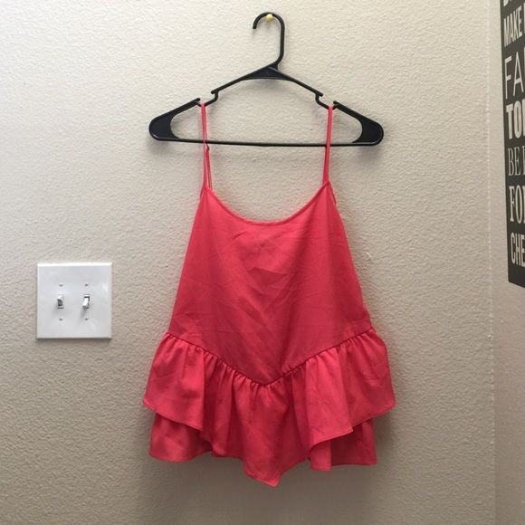 Cute flowy satin top! Adorable flowy top, brand new. Only tried on. Forever 21 Tops Tank Tops