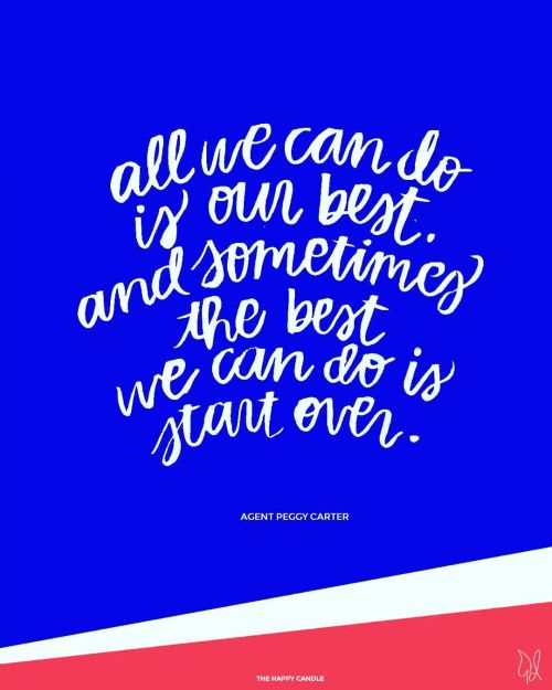 6b4f25dc All we can do is our best. And sometimes the best we can do is start ...