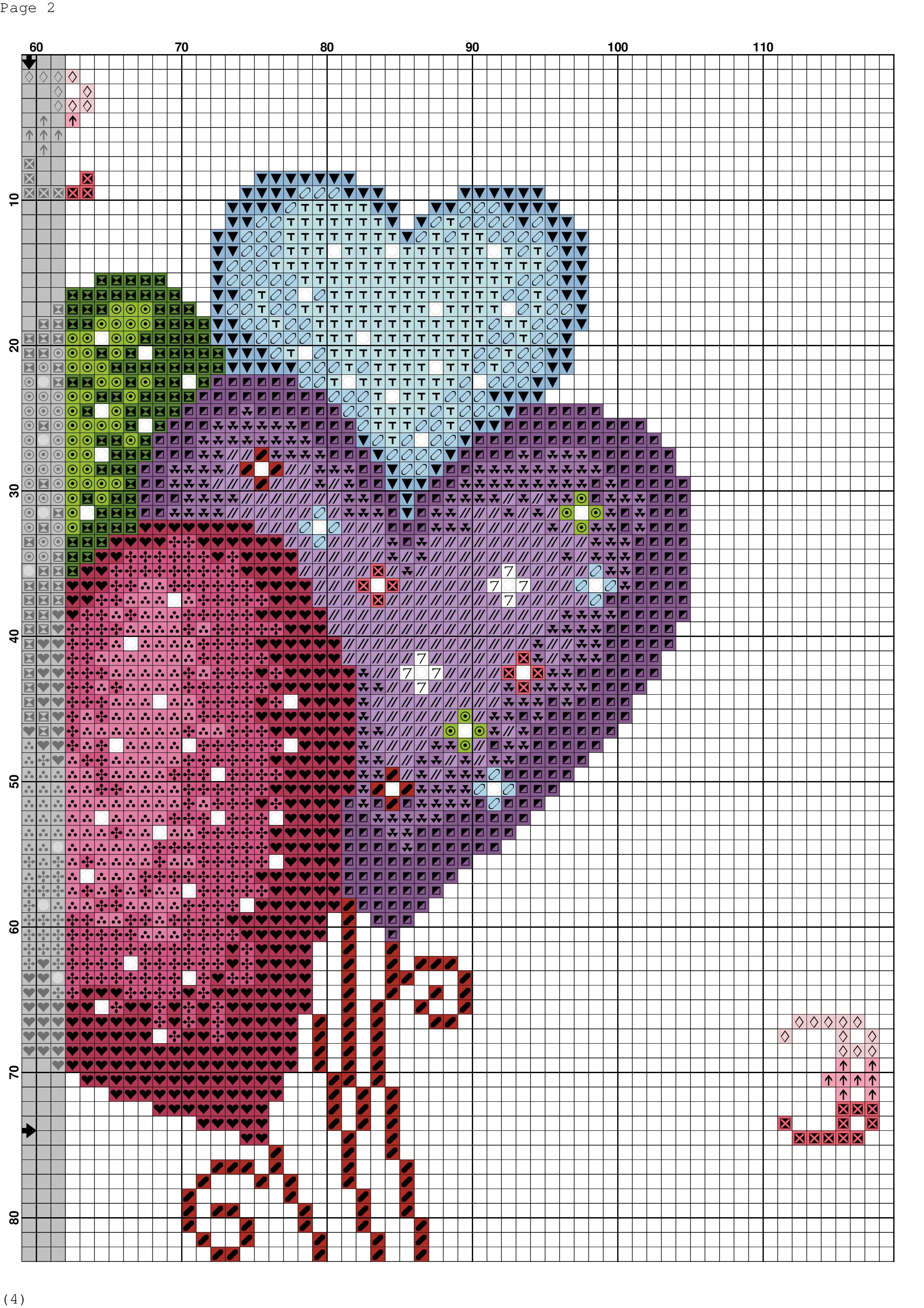 Purple Cupcake  Cross Stitch Kit by Florashell